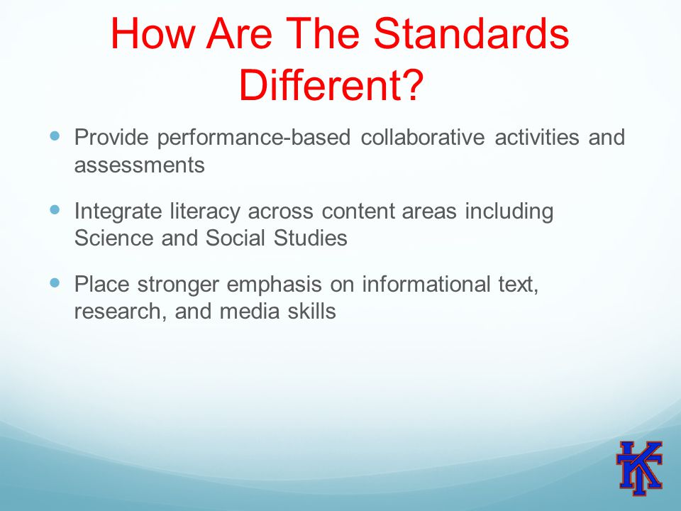 How Are The Standards Different.