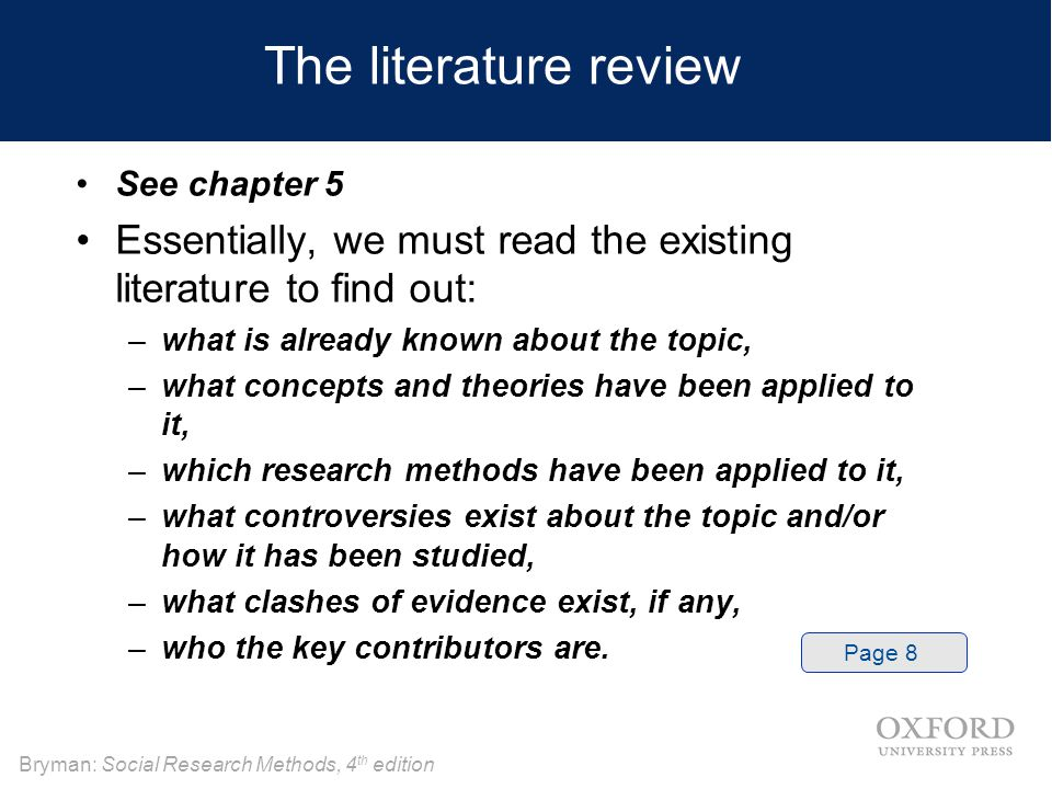 How Write A Literature Review