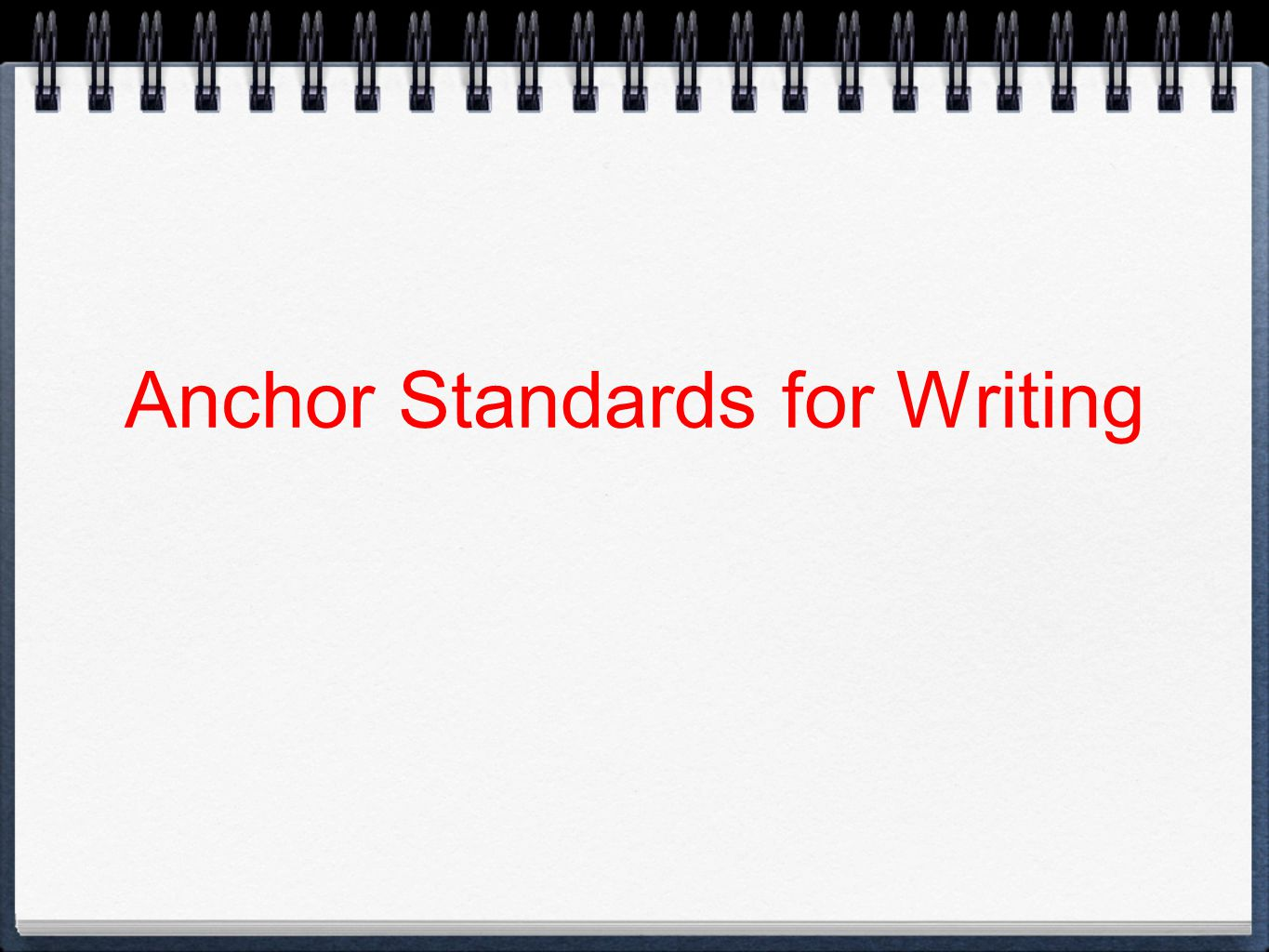 Anchor Standards for Writing