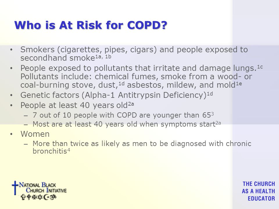 Who is At Risk for COPD.