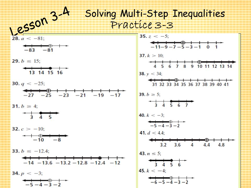 2 3 Practice Solving Multi Step Equations Answers Form G – Solving Multi Step Inequalities Worksheet