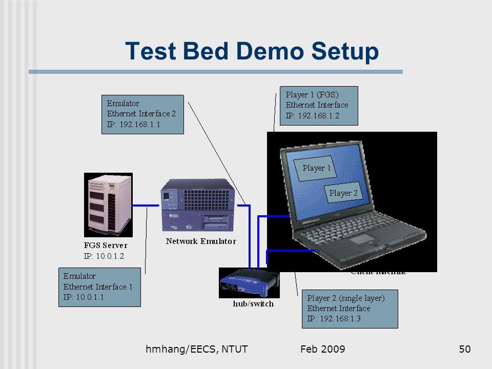 Feb 2009hmhang/EECS, NTUT50 Test Bed Demo Setup