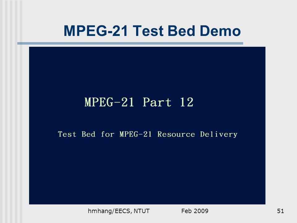Feb 2009hmhang/EECS, NTUT51 MPEG-21 Test Bed Demo