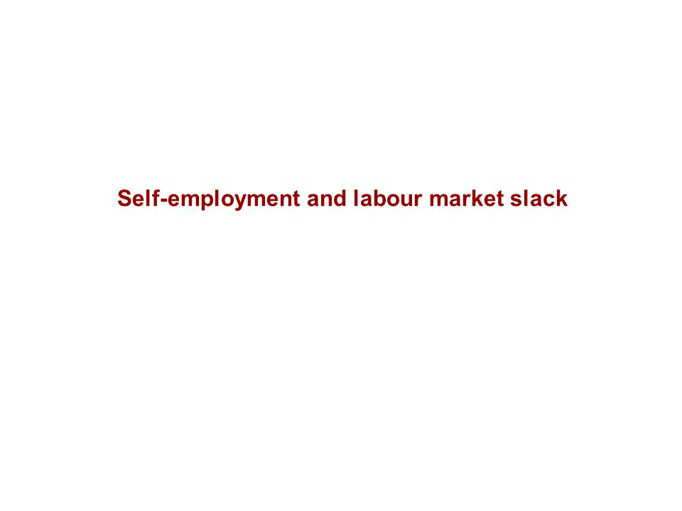 Self-employment and labour market slack