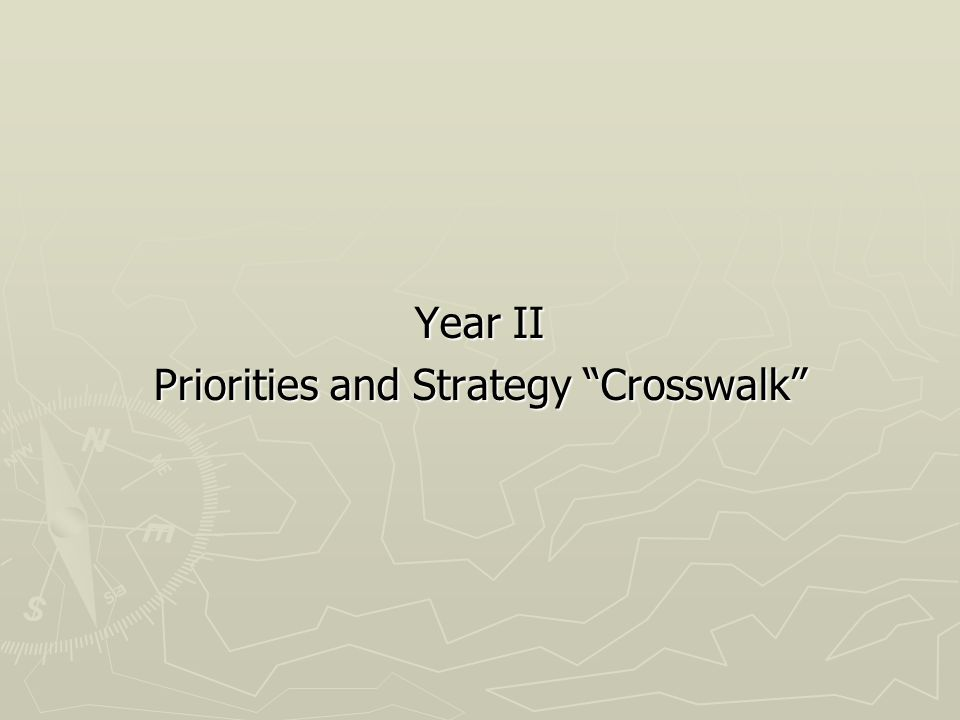 Year II Priorities and Strategy Crosswalk