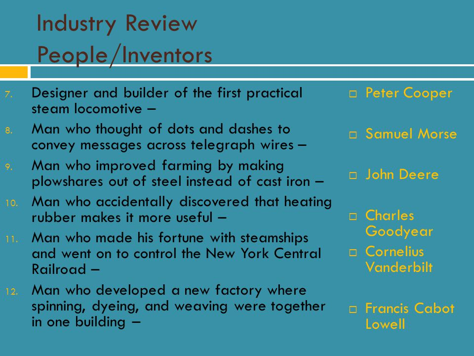 Industry Review People/Inventors 7.