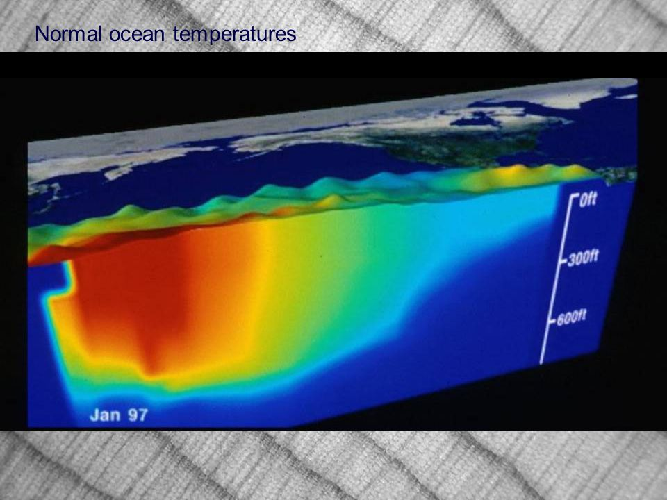 Normal ocean temperatures