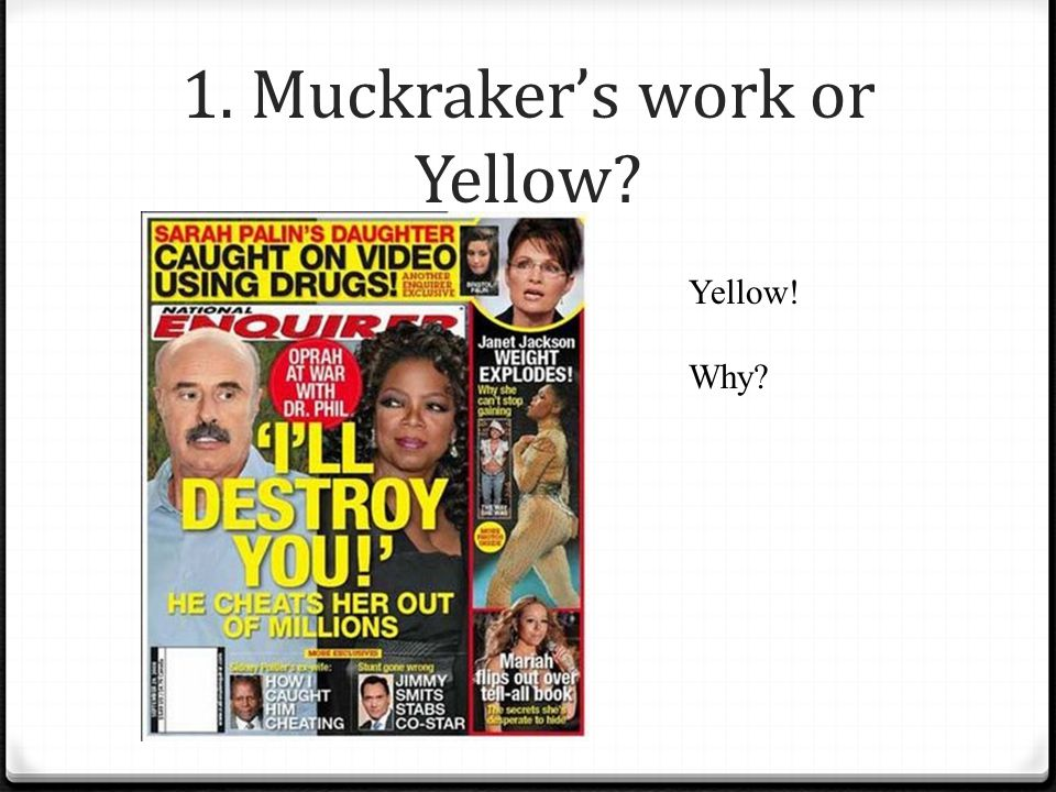 Muckrakers? your opinions on them?