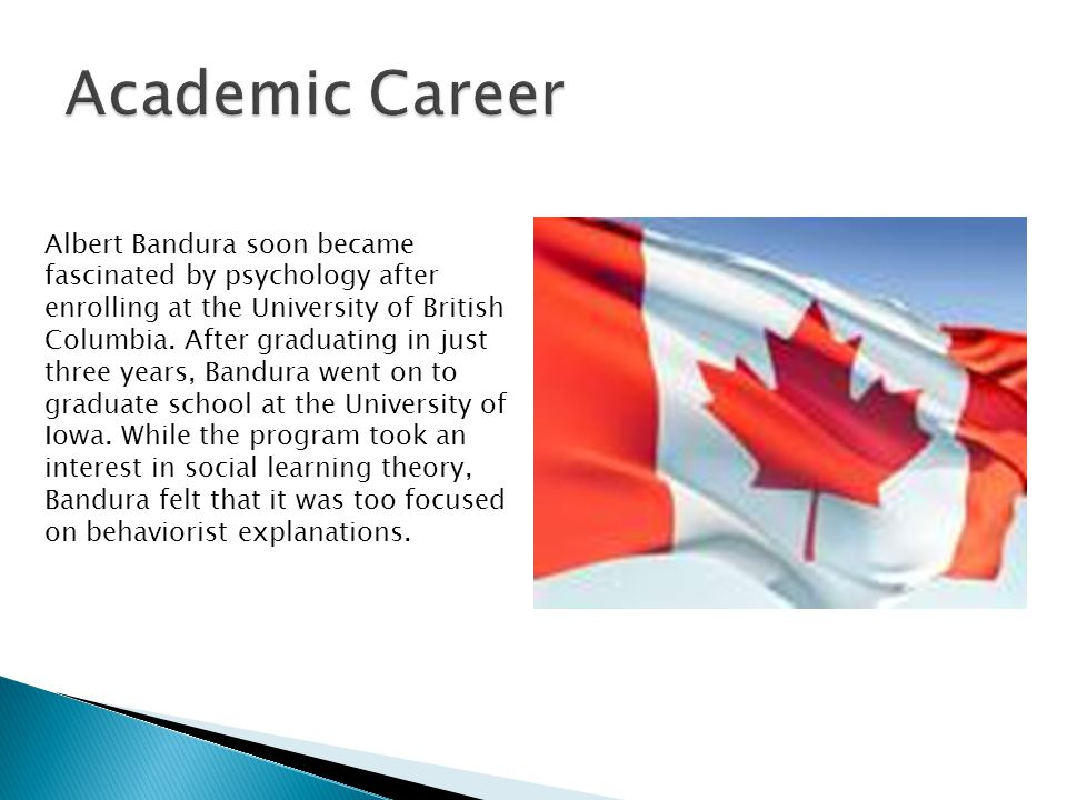 Albert Bandura soon became fascinated by psychology after enrolling at the University of British Columbia.