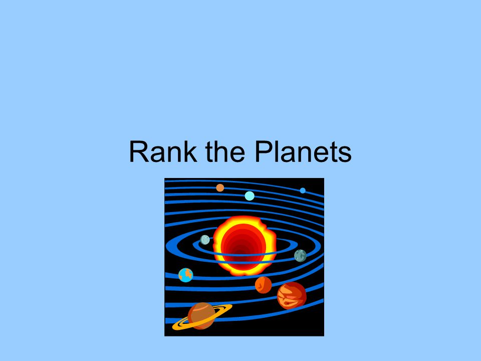 Rank the Planets