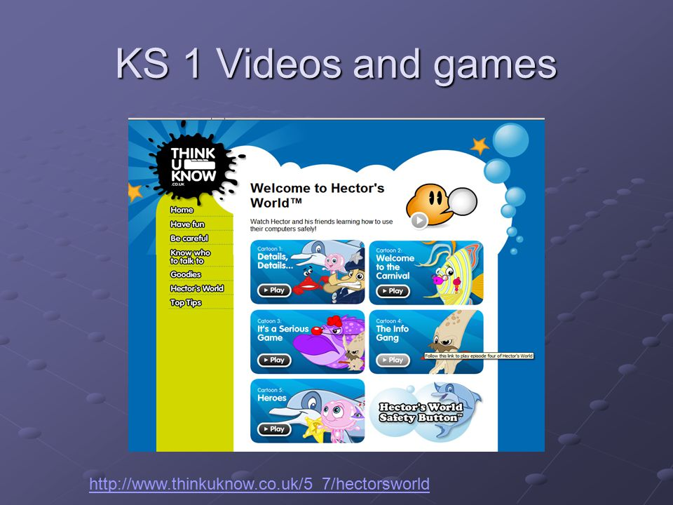 KS 1 Videos and games