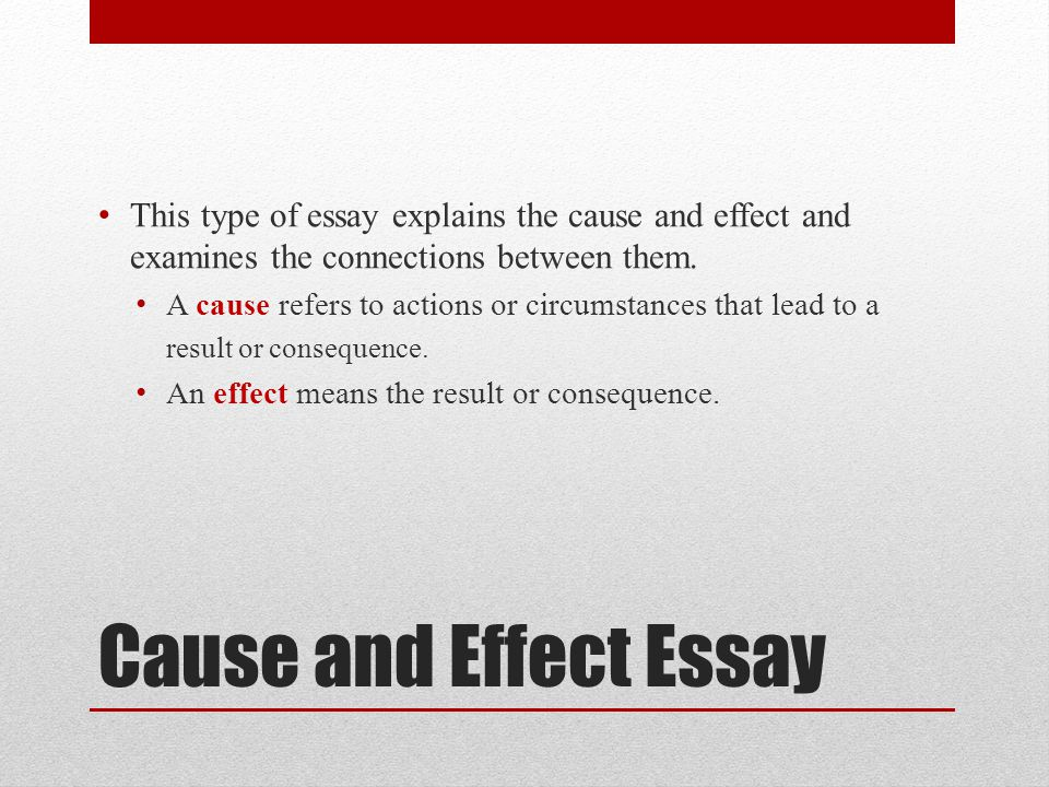 Effect Essay Outline