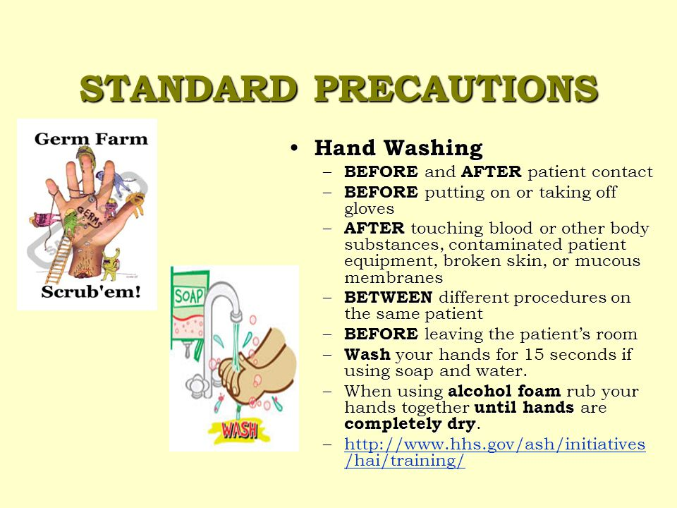 STANDARD PRECAUTIONS Use with ALL patients regardless of diagnosis or presumed infection.