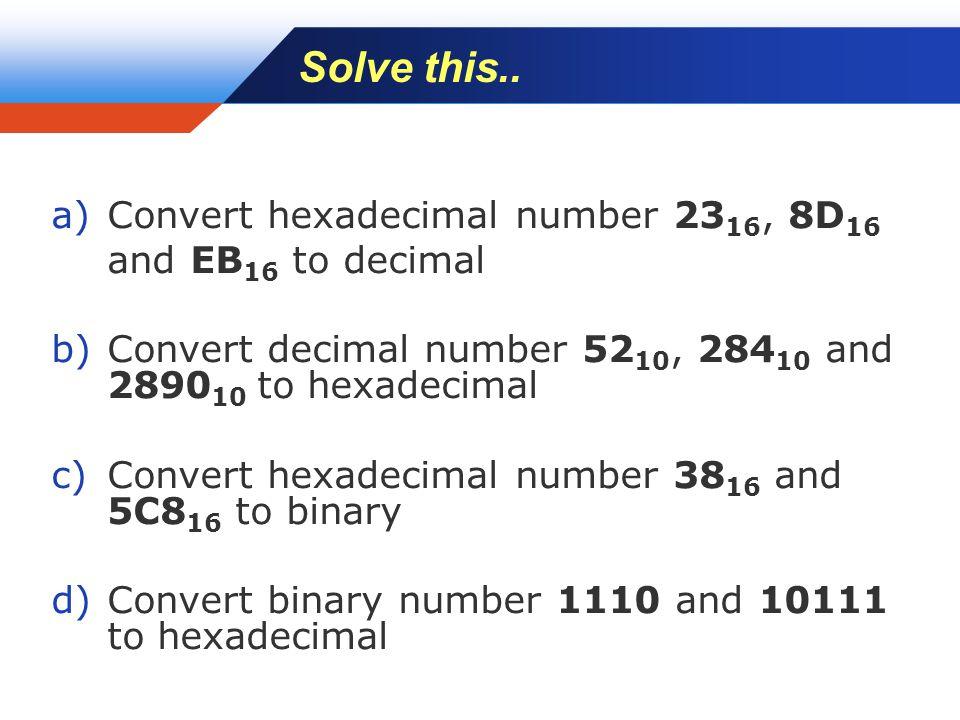 Company LOGO Solve this..