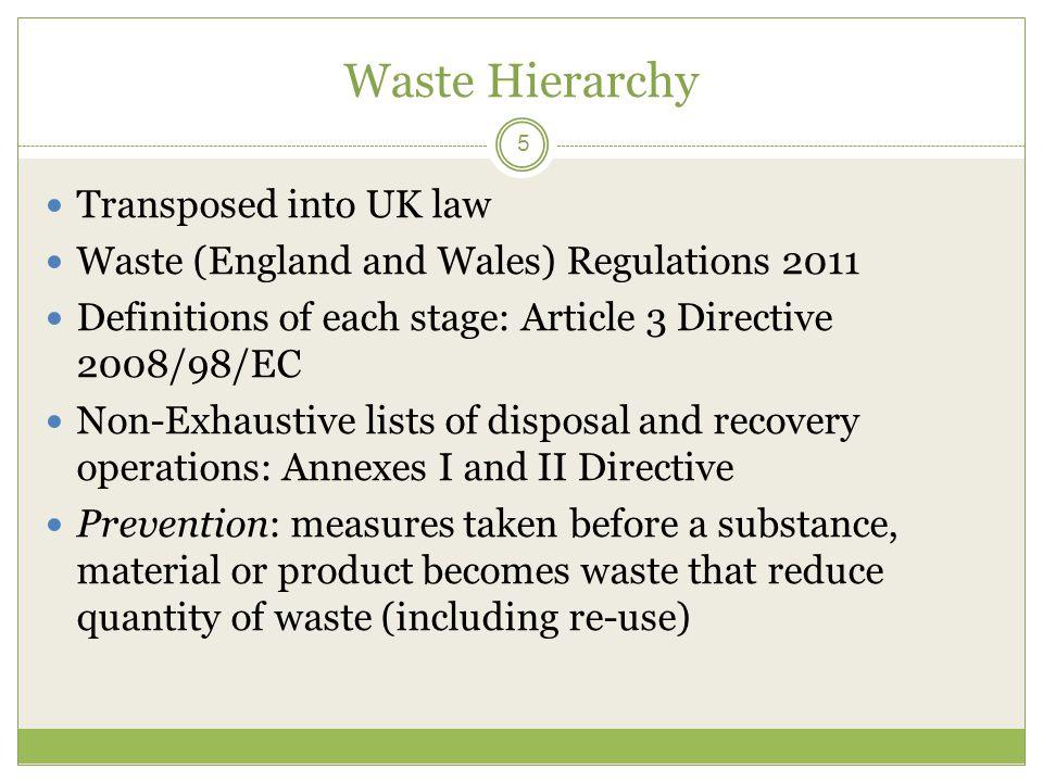 5 Waste ...