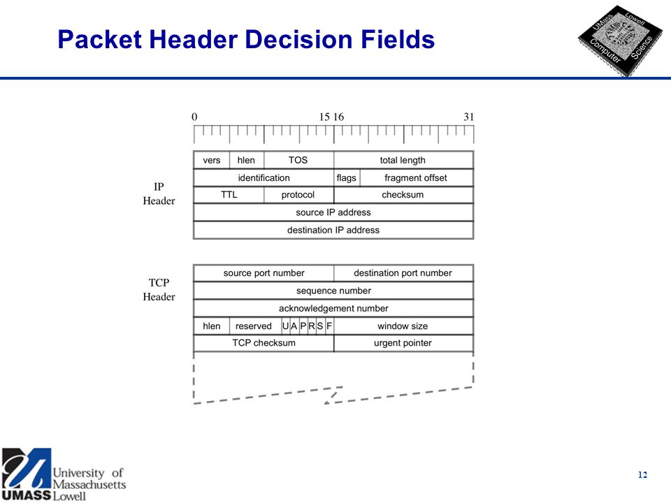 12 Packet Header Decision Fields