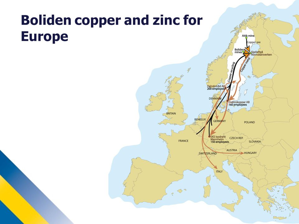 Boliden copper and zinc for Europe
