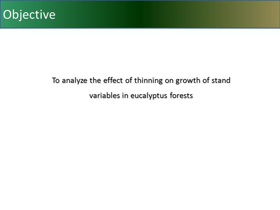 Objective To analyze the effect of thinning on growth of stand variables in eucalyptus forests