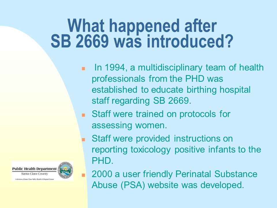 What happened after SB 2669 was introduced.
