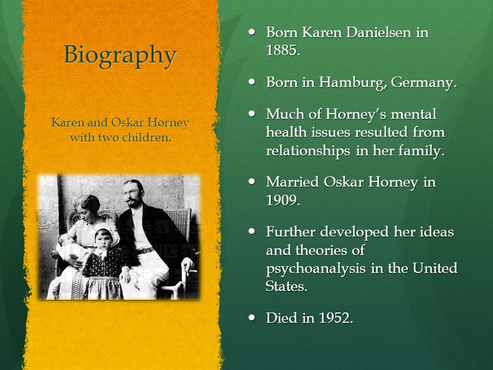 major contributions of karen horney essay