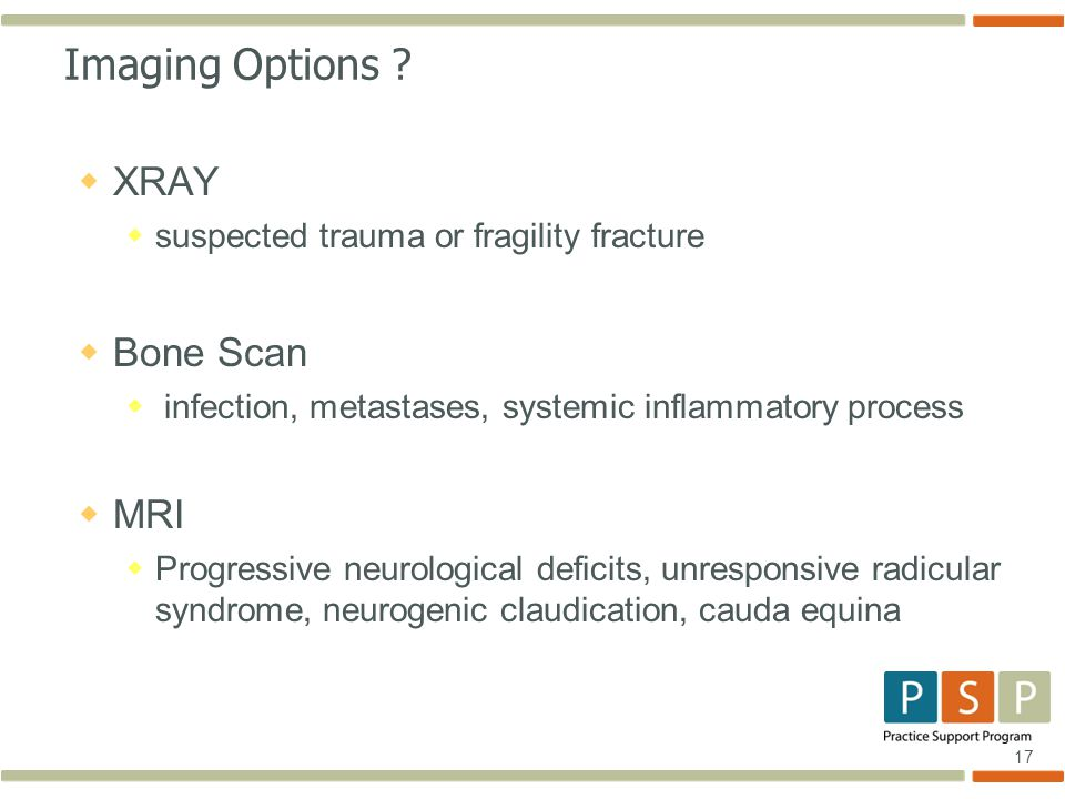 17 Imaging Options .