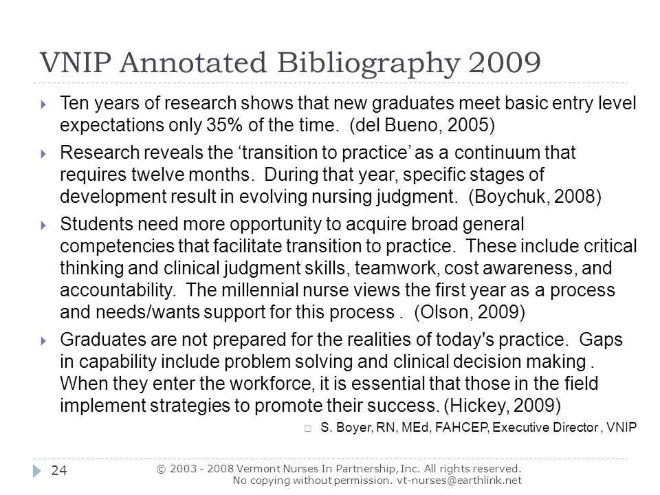 Annotated bibliography nursing research problem