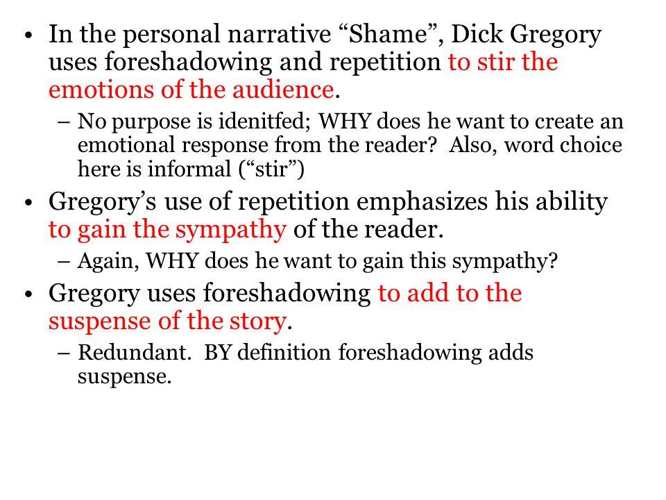 structure of a personal narrative essa