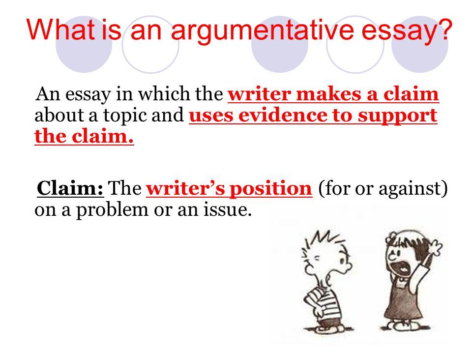 Topics Of Argumentative Essays
