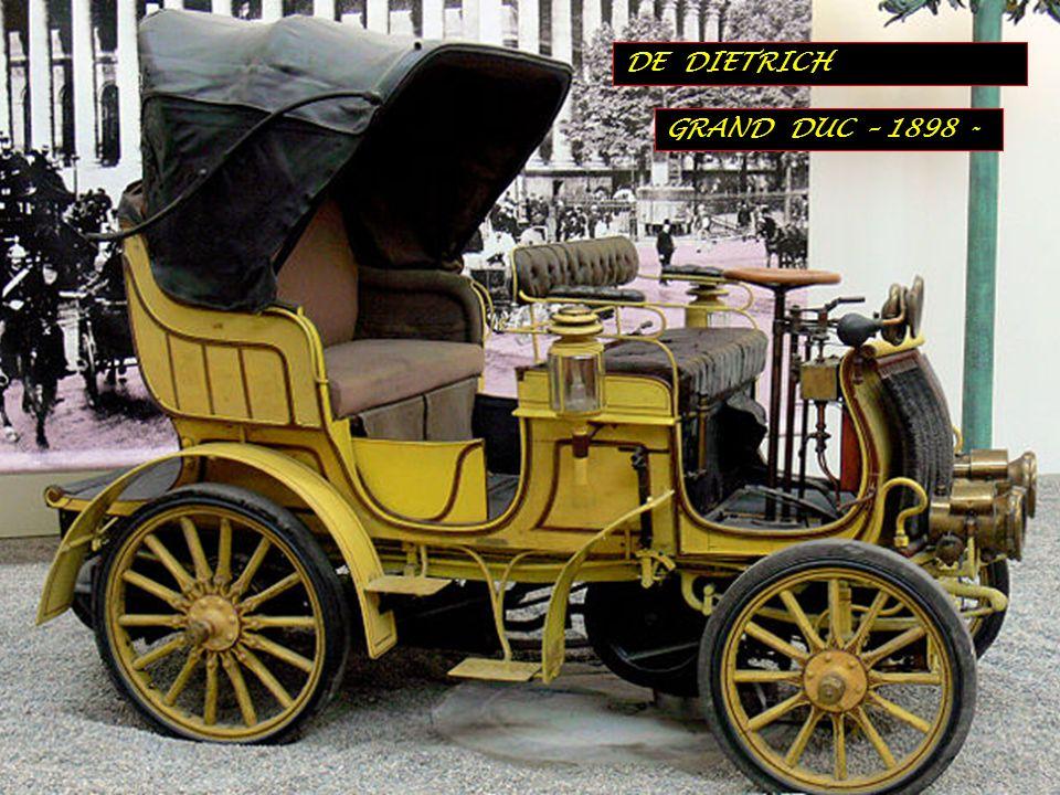 DE DIETRICH GRAND DUC – 1898 -