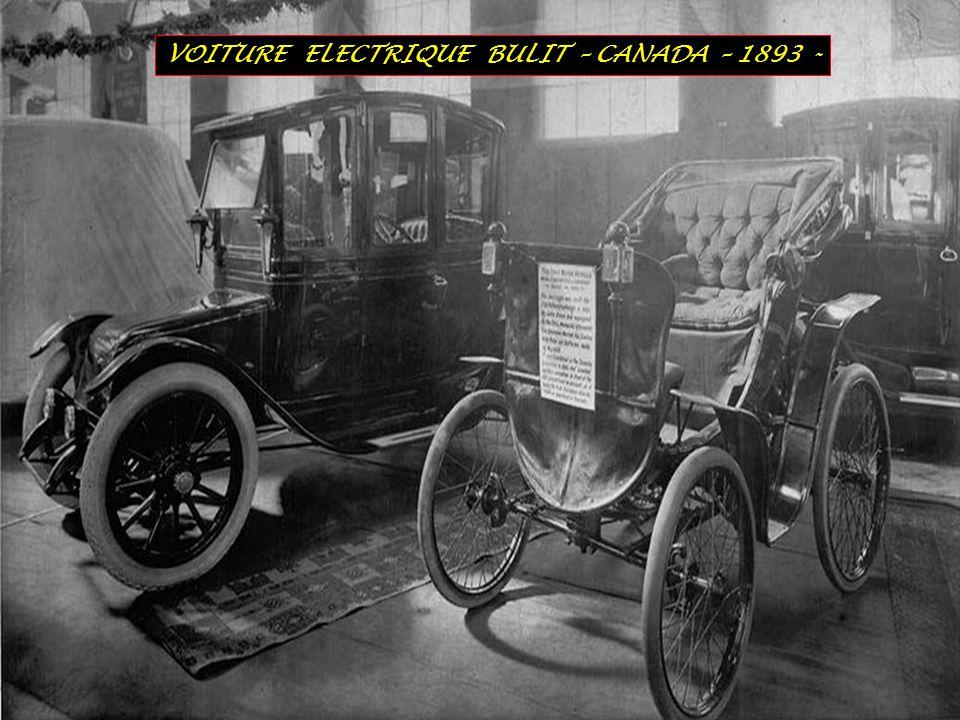 VOITURE ELECTRIQUE BULIT – CANADA – 1893 -