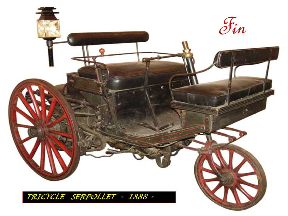 F i n TRICYCLE SERPOLLET - 1888 -