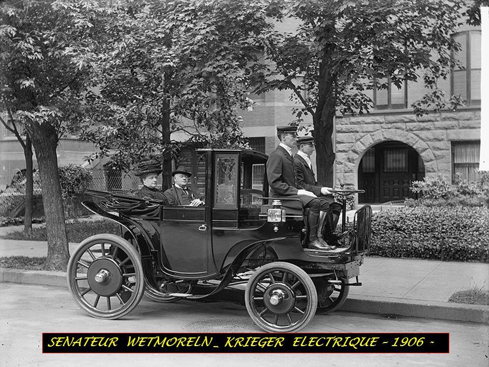 SENATEUR WETMORELN _ KRIEGER ELECTRIQUE – 1906 -