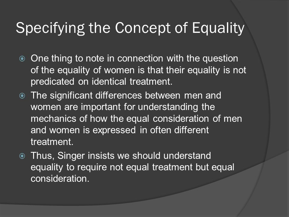 an analysis of the concept of equality in the choice of marriage This article deals with the notion of equality in louis dumont's work, specifically relative to ideology and sex distinction in kinship terminology it provides a new reading of his writings on kinship, analyzing his discussion of south indian terminology and marriage, the contrasting value of affinity and consanguinity in caste society, and equality of.
