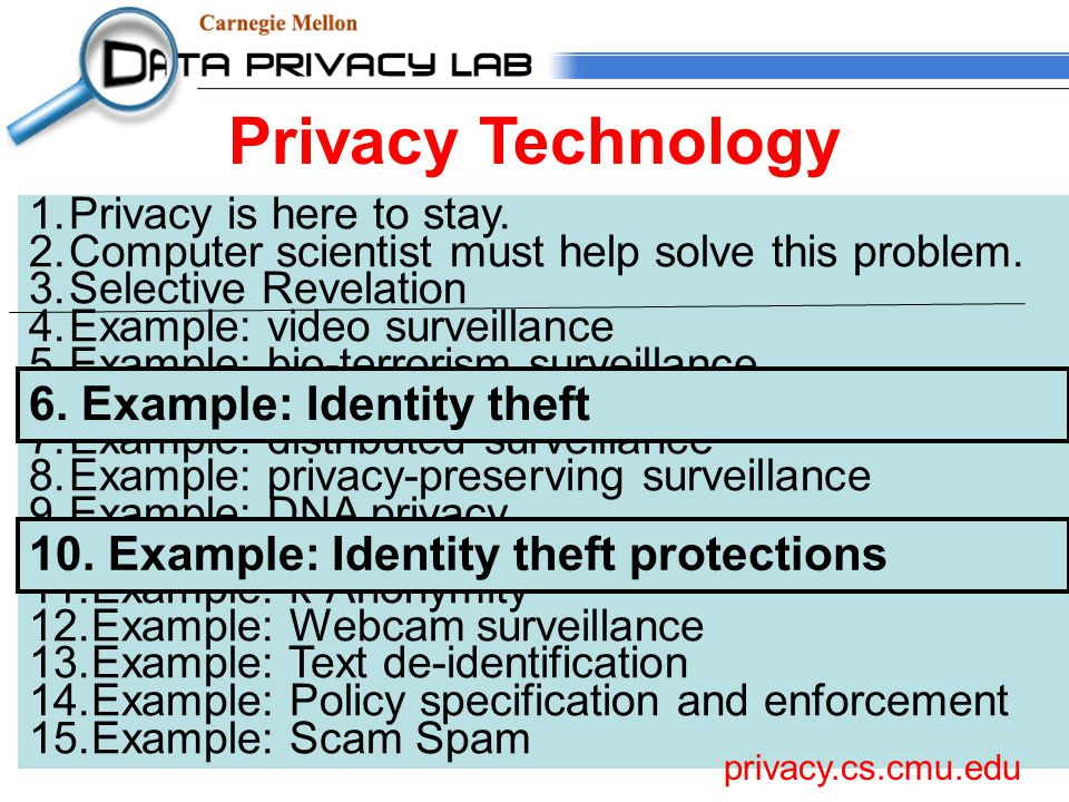1.Privacy is here to stay. 2.Computer scientist must help solve this problem.