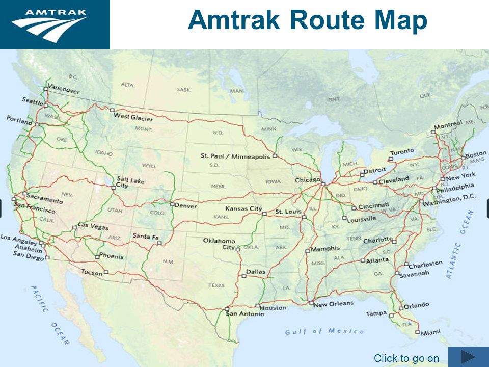 Amtrak Is A Registered Service Mark Of The National Railroad - Amtrak national map