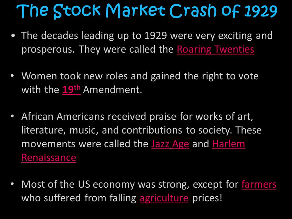 great crash of 1929 (see pictures of the stock market crash of 1929) in today's dollars — was lost in the 1929 crash with the rest of the country into the great.