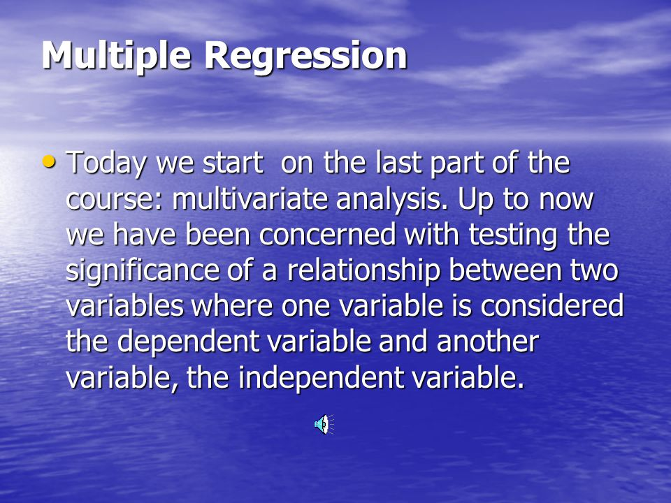 Multiple Regression Fenster