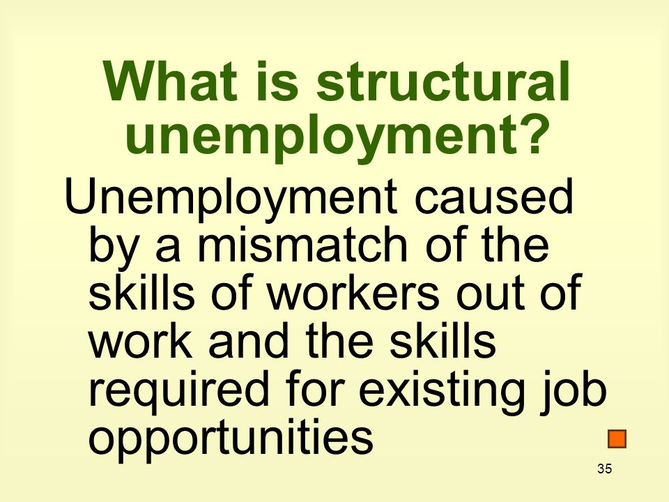 35 What is structural unemployment.
