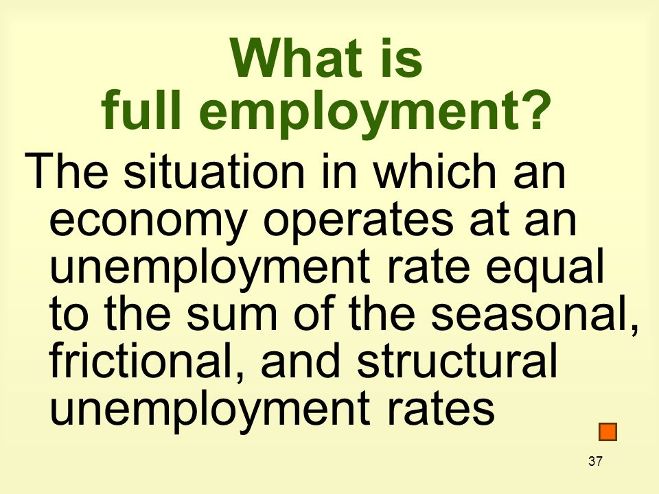 37 What is full employment.