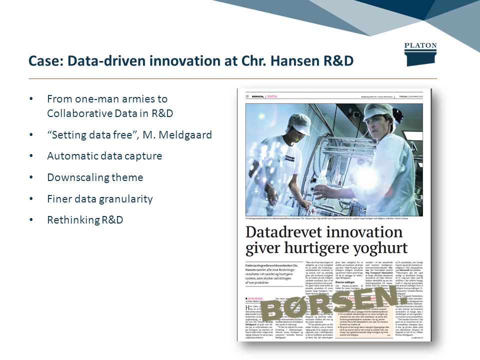 Case: Data-driven innovation at Chr.