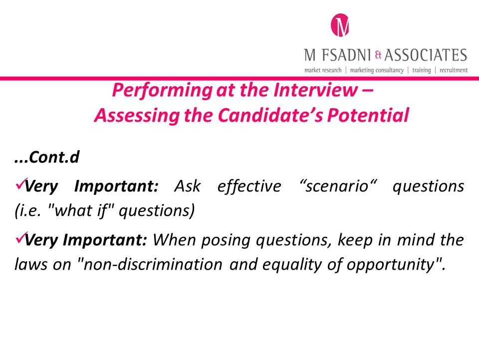 scenario questions for interview