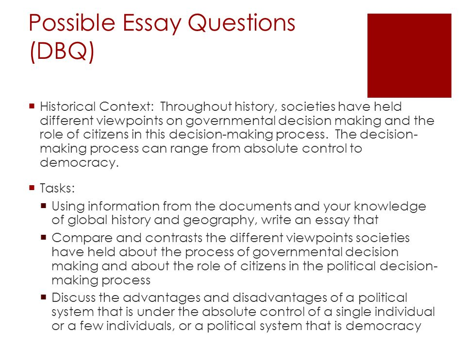 write an essay on political change
