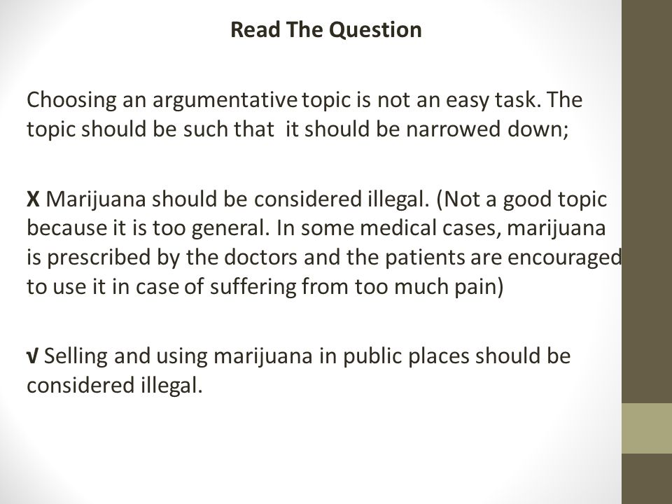 Legalizing Marijuana Essay Outline