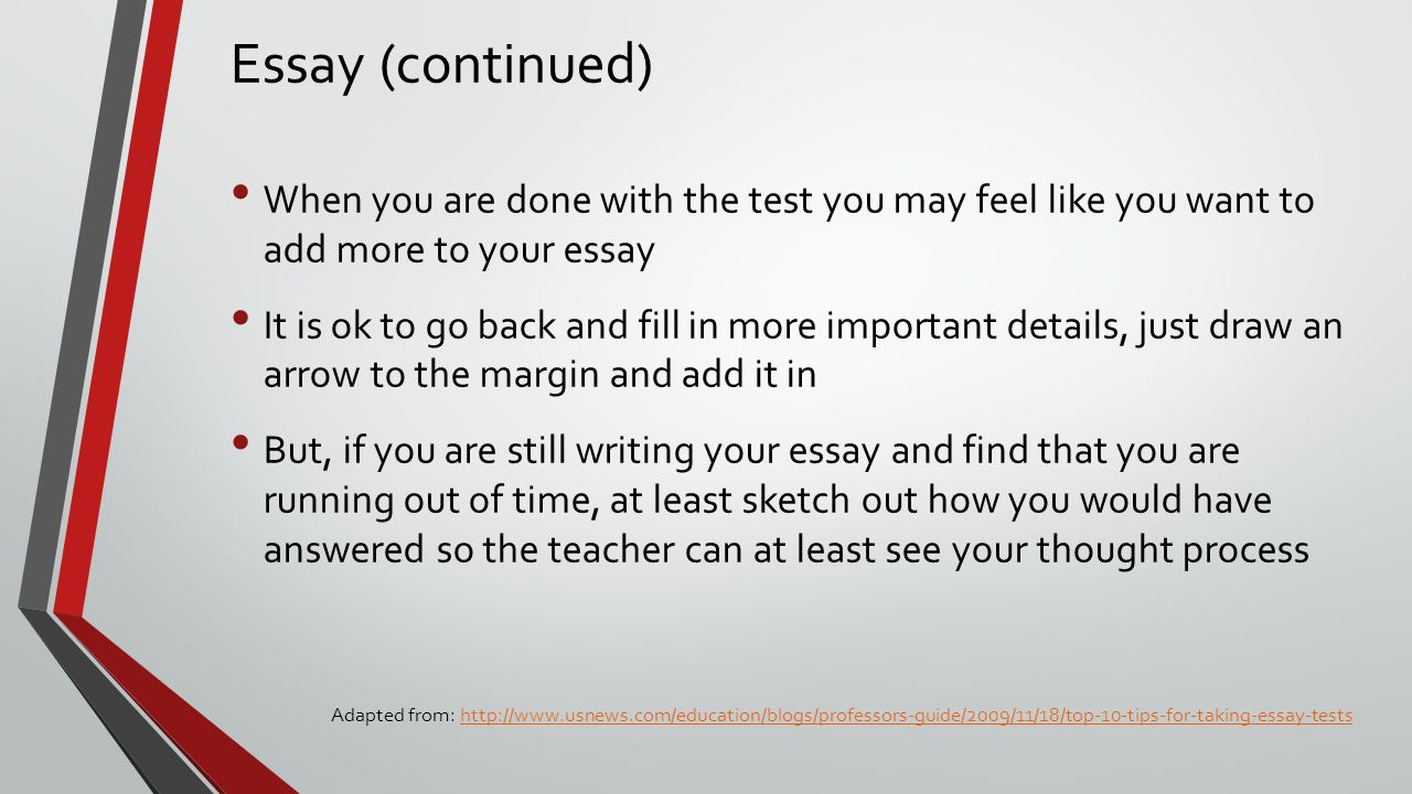 the test procedure essay Test for saponin glycosides biology essay print all the experimental procedures and protocols used in this study were reviewed by to the test solution, add a.