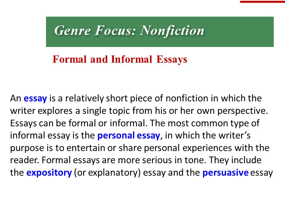 writing informal essays
