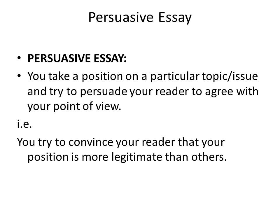words to use in a persuasive essay