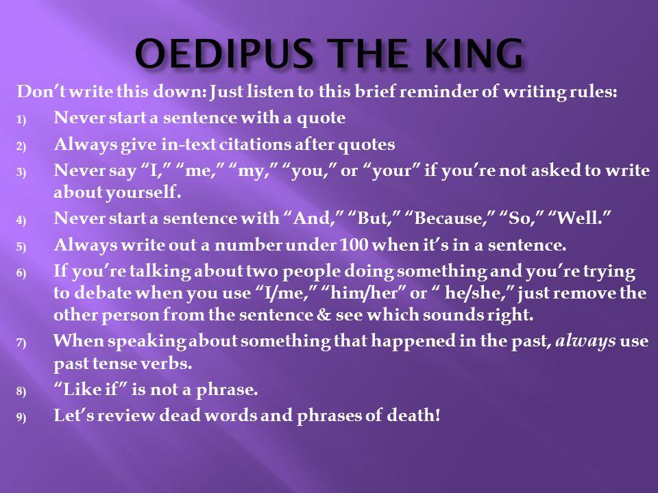 qedipus a blind king essay