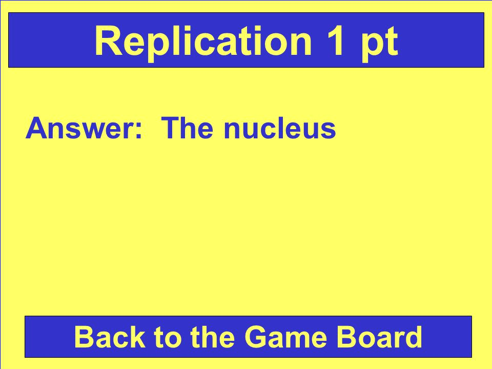 Question: Where does replication occur . Check Your Answer Replication 1pt