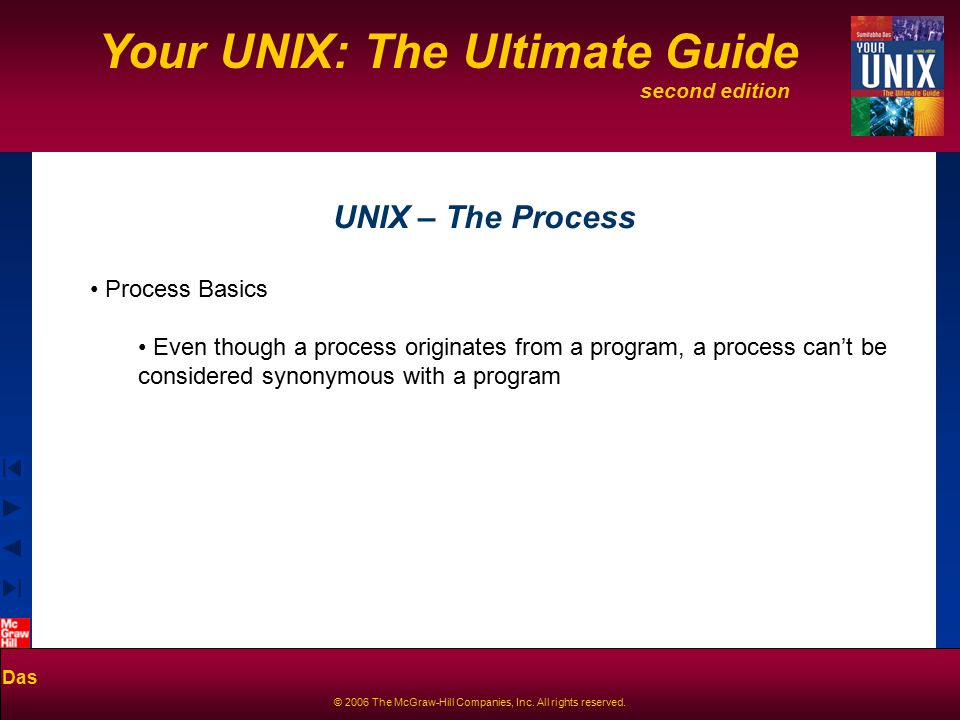 second edition Your UNIX: The Ultimate Guide Das © 2006 The McGraw-Hill Companies, Inc.
