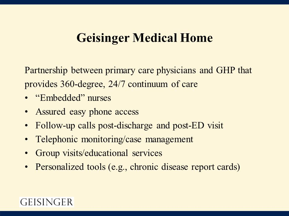 Geisinger medical home model